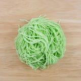 Los tallarines de huevo verdes (2) imagen de archivo libre de regalías