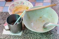 Los tallarines secos especiales deliciosos del Wonton ruedan después de comida Imágenes de archivo libres de regalías