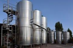 Los tanques con el vino Fotografía de archivo