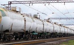 Los tanques congelados con el gas licuefecho Foto de archivo libre de regalías
