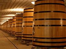 Los tanques/cubas del roble para el vino Fotografía de archivo libre de regalías