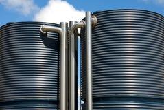Los tanques de agua Imágenes de archivo libres de regalías