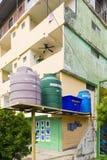Los tanques de agua en ciudad de Panamá Imagen de archivo