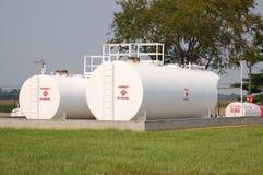 Los tanques de almacenaje de combustible Foto de archivo libre de regalías