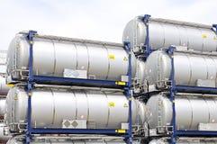 Los tanques de almacenaje portables de petróleo Fotos de archivo libres de regalías