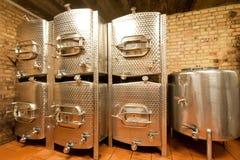 Los tanques de aluminio Fotografía de archivo