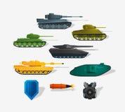Los tanques de batalla Fotos de archivo libres de regalías