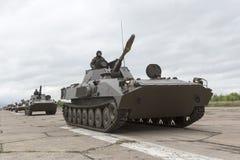Los tanques de batalla búlgaros del ejército Foto de archivo libre de regalías