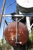 Los tanques de gasolina y aceite en la mina Foto de archivo libre de regalías