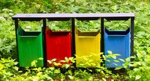 Los tanques de la basura Imagen de archivo