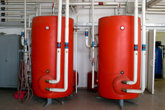 Los tanques de la calefacción fotografía de archivo libre de regalías