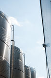 Los tanques de la fábrica Fotografía de archivo libre de regalías