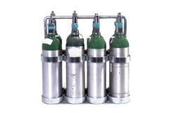 Los tanques de oxígeno Imagen de archivo