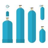 Los tanques de Oxygene fijados Foto de archivo libre de regalías