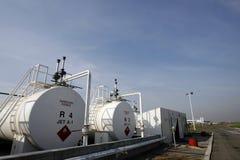 Los tanques del keroseno del A-1 del combustible de avión Fotos de archivo libres de regalías