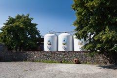 Los tanques del lagar del valle de Duruji Fotos de archivo libres de regalías