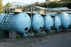 Los tanques del vino Imagen de archivo