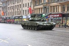 Los tanques en la calle de Tverskaya Foto de archivo libre de regalías
