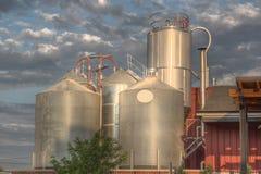 Los tanques en la elaboración de la cerveza de Fonders Fotografía de archivo libre de regalías