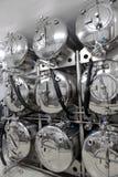 Los tanques en microbrewery Imágenes de archivo libres de regalías