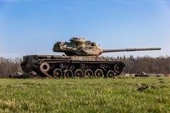 Los tanques en un prado cerca de Sögel Imágenes de archivo libres de regalías
