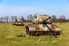 Los tanques en un prado cerca de Sögel Fotografía de archivo libre de regalías