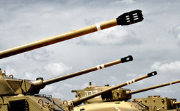 Los tanques militares Imagen de archivo