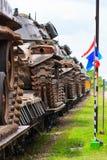 Los tanques militares. Fotografía de archivo libre de regalías
