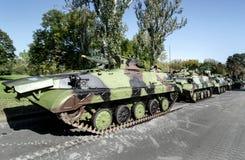 Los tanques militares Imágenes de archivo libres de regalías