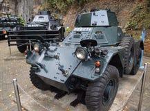 Los tanques militares históricos para la defensa costera fotografía de archivo