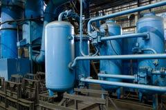 Los tanques para la prensa hidráulica Fotografía de archivo