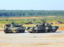 Los tanques rusos Foto de archivo libre de regalías