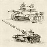 Los tanques soviéticos Imágenes de archivo libres de regalías