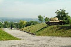 Los tanques soviéticos de Segunda Guerra Mundial Imagen de archivo