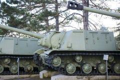 Los tanques soviéticos viejos Imagen de archivo libre de regalías