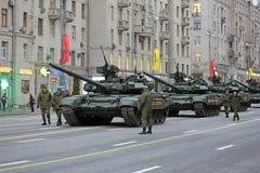 Los tanques T-90 Fotografía de archivo