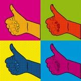 Los tebeos aprueban iconos libre illustration