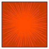 Los tebeos colorean las líneas radiales efectos de la velocidad del gráfico stock de ilustración