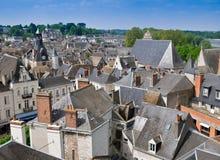 Los tejados de Blois Foto de archivo libre de regalías