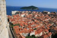 Los tejados de Dubrovnik imágenes de archivo libres de regalías
