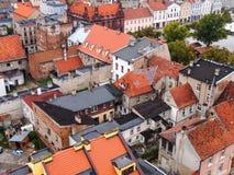 Los tejados de las casas viejas Foto de archivo libre de regalías