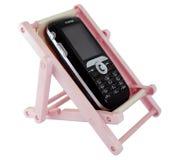 Los teléfonos móviles en resto Imagen de archivo