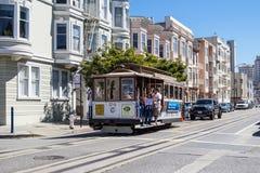 Los teleféricos famosos de San Francisco Imagen de archivo libre de regalías