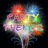Los temas del partido indican ideas y festividad de la celebración ilustración del vector