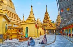 Los templos budistas más viejos de Rangún, Myanmar Imagen de archivo libre de regalías