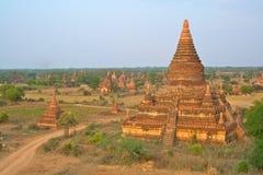 Los templos de Bagan en la salida del sol, Myanmar (Birmania) Foto de archivo libre de regalías