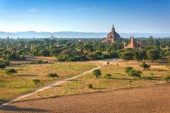 Los templos de Bagan en Myanmar Foto de archivo libre de regalías