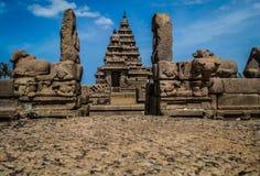 Los templos de la orilla de Mahabalipuram Imagen de archivo libre de regalías