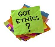 ¿Los éticas conseguidos? Imágenes de archivo libres de regalías