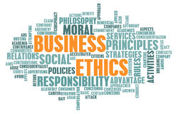 Los éticas de asunto Imágenes de archivo libres de regalías